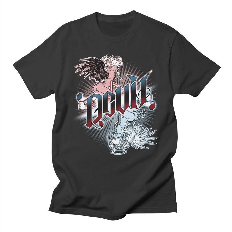 DEVIL ANGEL Men's T-Shirt by Inkdwell's Artist Shop