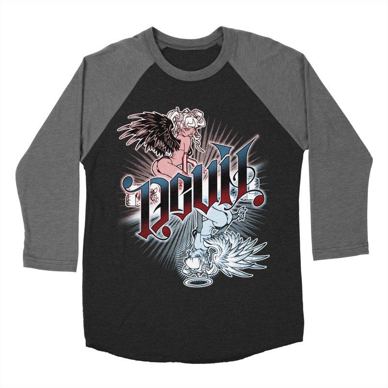 DEVIL ANGEL Women's Baseball Triblend T-Shirt by Inkdwell's Artist Shop