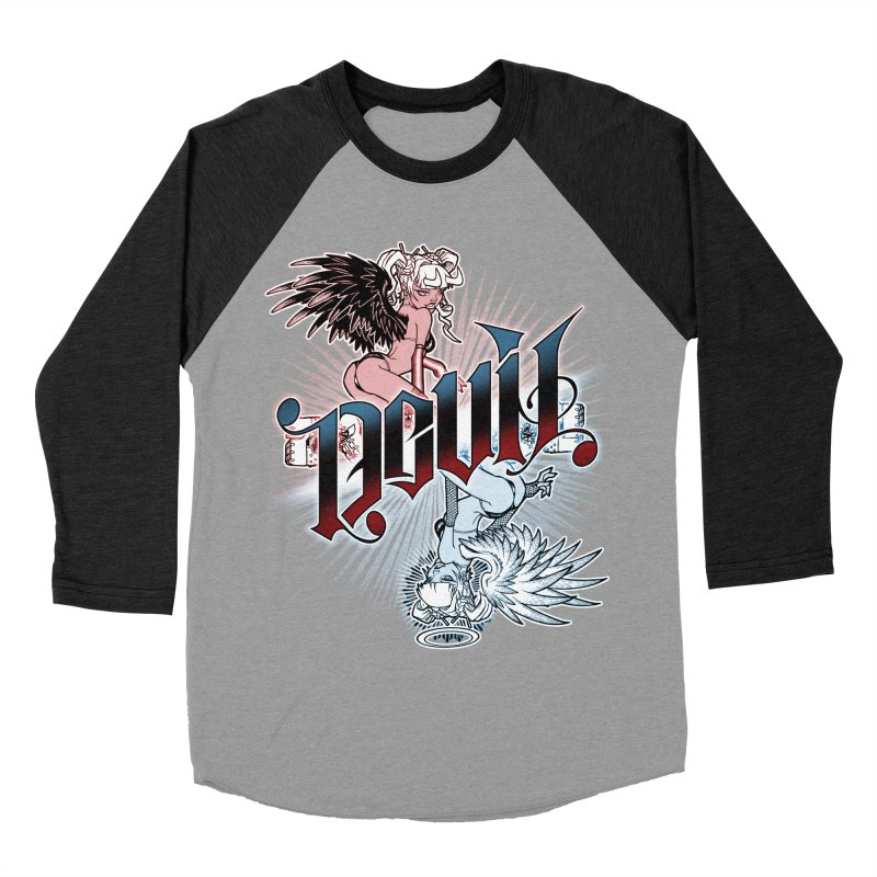 DEVIL ANGEL Women's Baseball Triblend Longsleeve T-Shirt by Inkdwell's Artist Shop