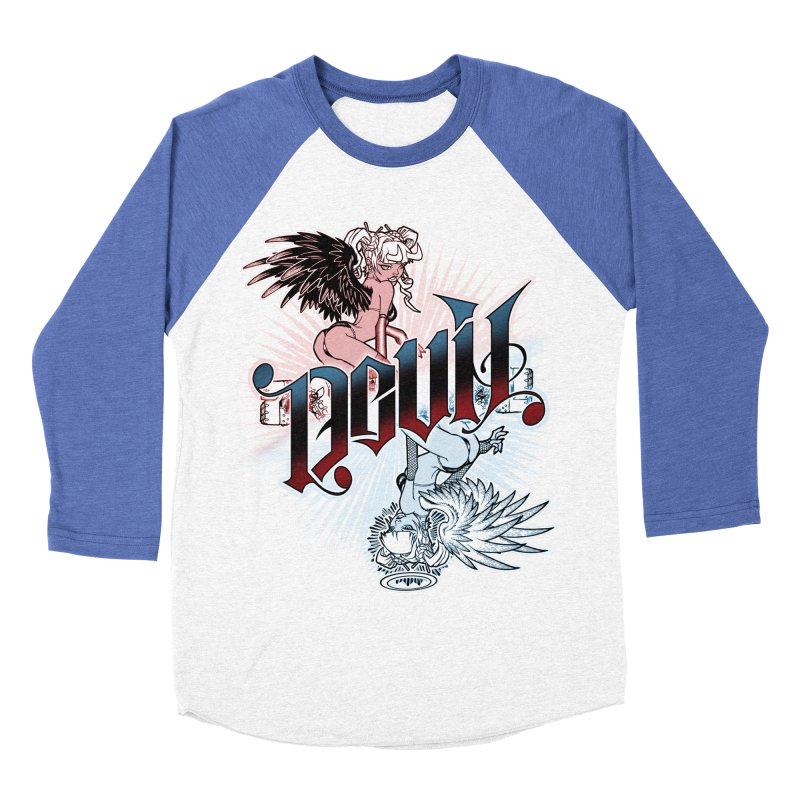 DEVIL ANGEL Men's Baseball Triblend Longsleeve T-Shirt by Inkdwell's Artist Shop