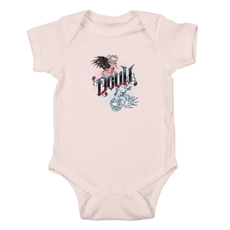 DEVIL ANGEL Kids Baby Bodysuit by Inkdwell's Artist Shop