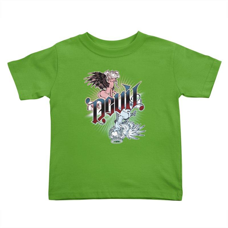 DEVIL ANGEL Kids Toddler T-Shirt by Inkdwell's Artist Shop