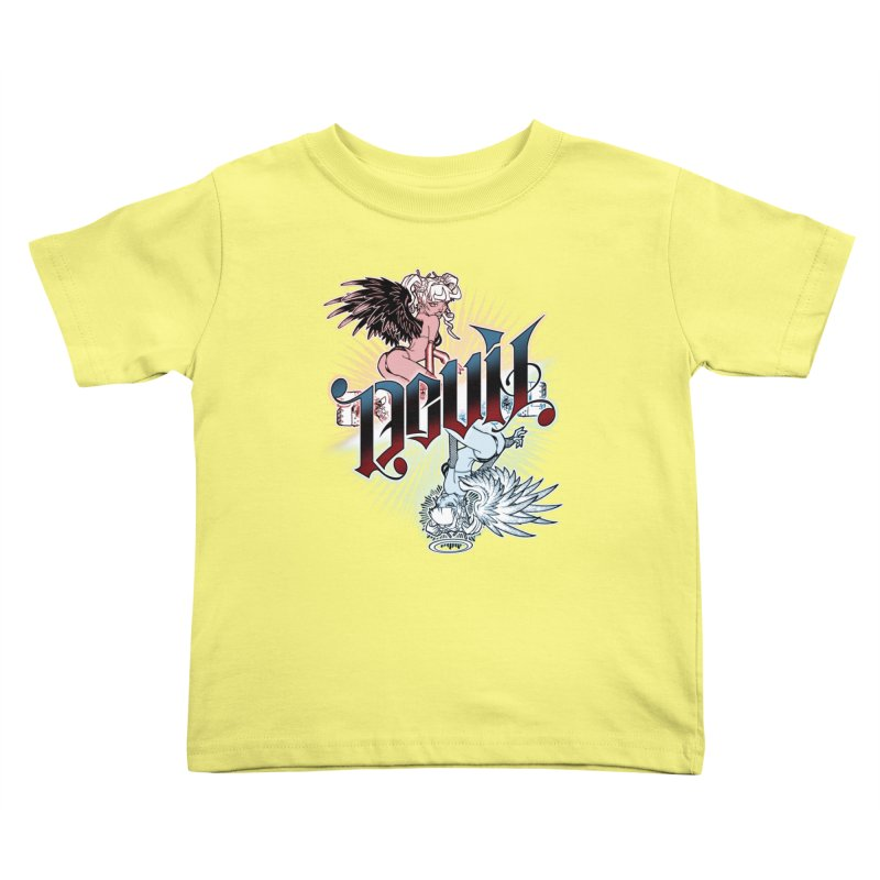 DEVIL ANGEL Kids Toddler T-Shirt by Inkdwell's Artist Shop