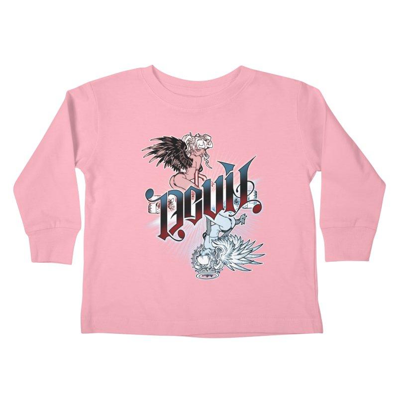 DEVIL ANGEL Kids Toddler Longsleeve T-Shirt by Inkdwell's Artist Shop