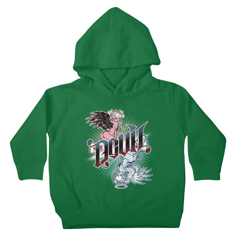 DEVIL ANGEL Kids Toddler Pullover Hoody by Inkdwell's Artist Shop