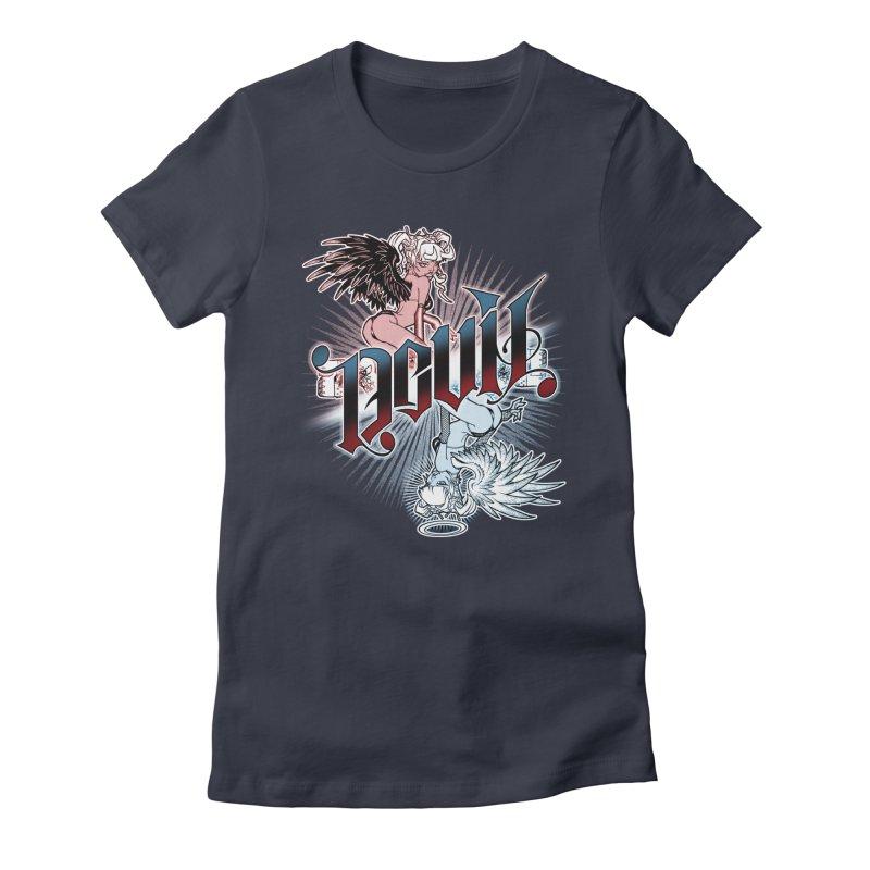 DEVIL ANGEL Women's Fitted T-Shirt by Inkdwell's Artist Shop