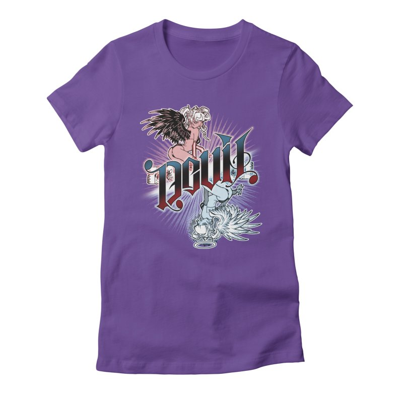 DEVIL ANGEL Women's T-Shirt by Inkdwell's Artist Shop