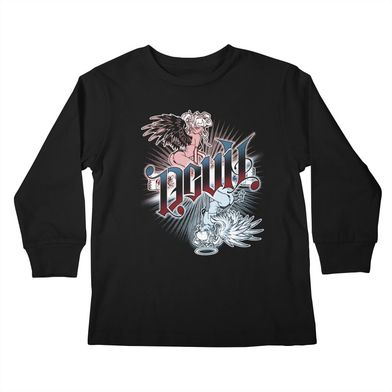 DEVIL ANGEL Kids Longsleeve T-Shirt by Inkdwell's Artist Shop