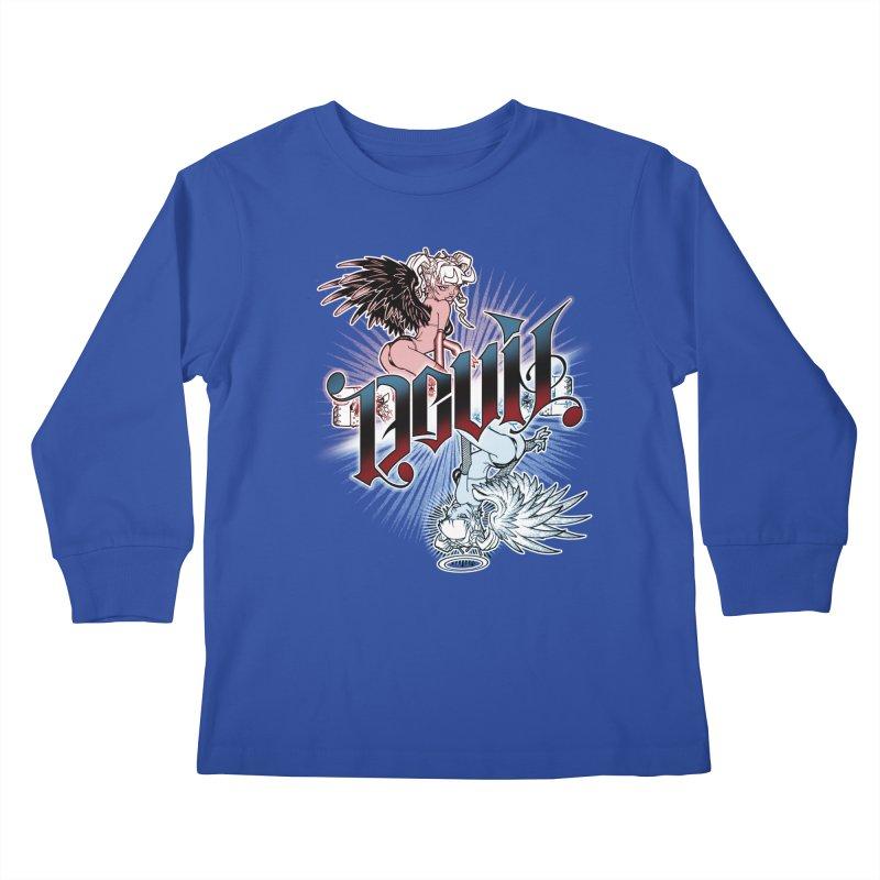 DEVIL ANGEL Kids Longsleeve T-Shirt by Inkdwell's Artist Shop