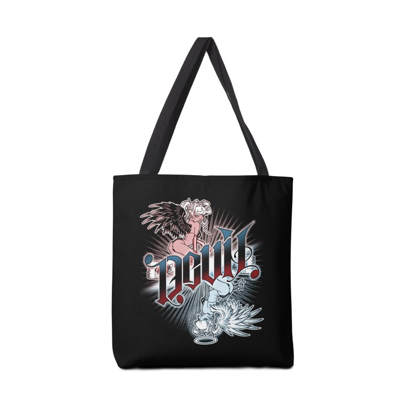 DEVIL ANGEL Accessories Bag by Inkdwell's Artist Shop