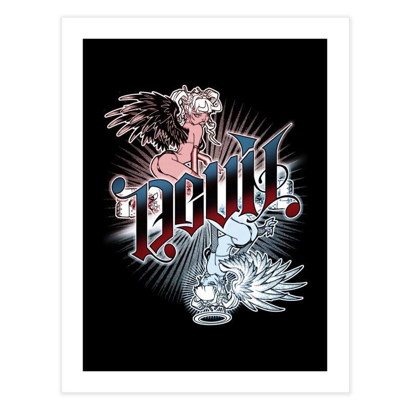 DEVIL ANGEL Home Fine Art Print by Inkdwell's Artist Shop
