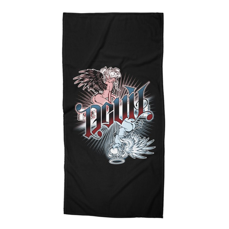 DEVIL ANGEL Accessories Beach Towel by Inkdwell's Artist Shop