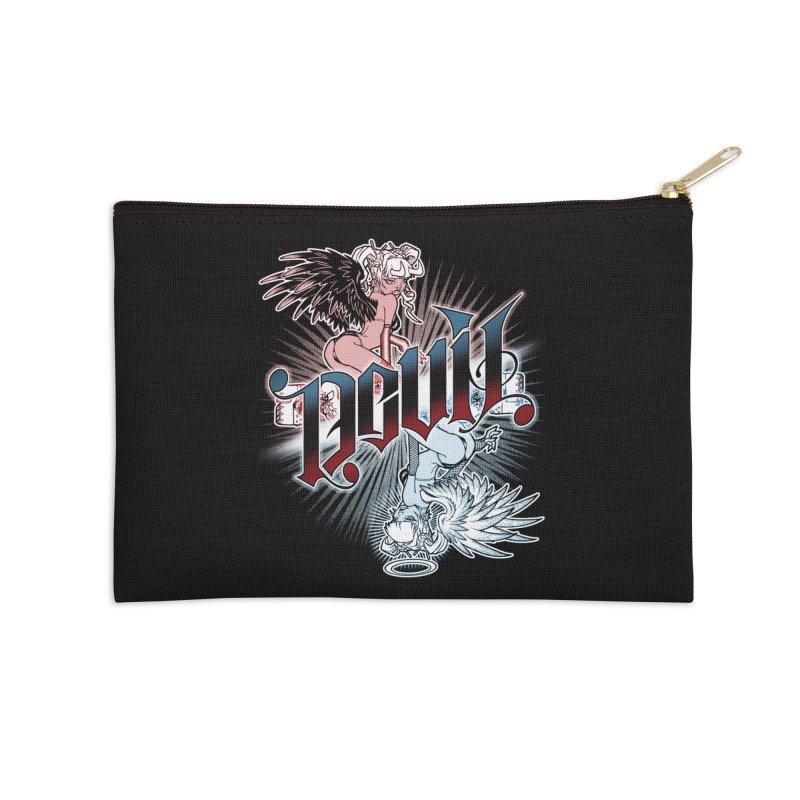 DEVIL ANGEL Accessories Zip Pouch by Inkdwell's Artist Shop
