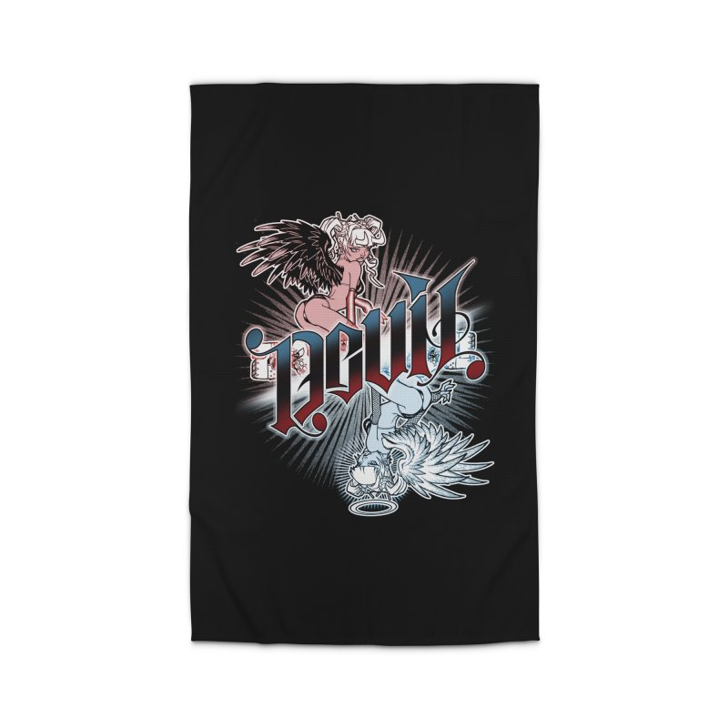 DEVIL ANGEL Home Rug by Inkdwell's Artist Shop