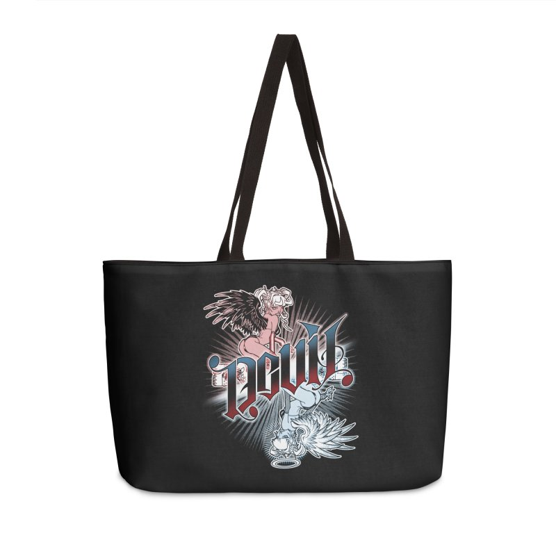 DEVIL ANGEL Accessories Weekender Bag Bag by Inkdwell's Artist Shop