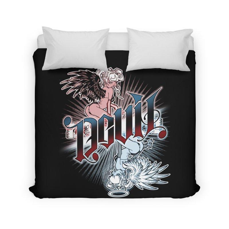 DEVIL ANGEL Home Duvet by Inkdwell's Artist Shop