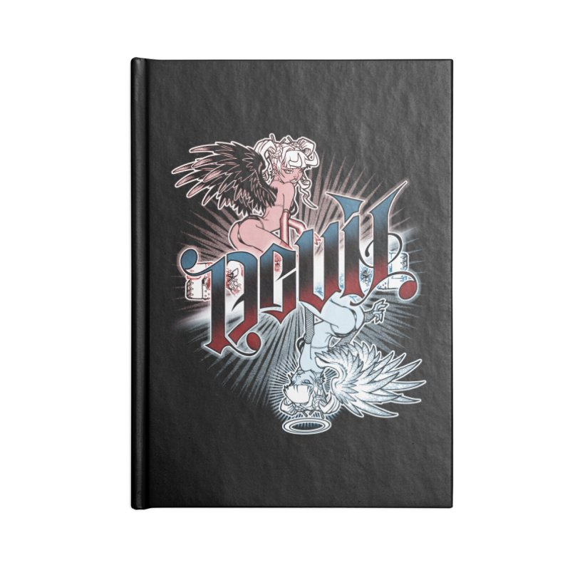 DEVIL ANGEL Accessories Blank Journal Notebook by Inkdwell's Artist Shop