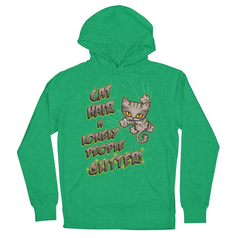 CAT HAIR!!! Men's French Terry Pullover Hoody by Inkdwell's Artist Shop