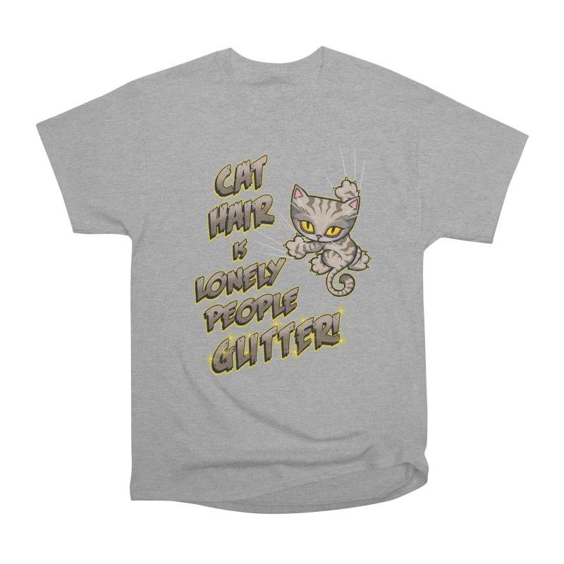 CAT HAIR!!! Women's Heavyweight Unisex T-Shirt by Inkdwell's Artist Shop