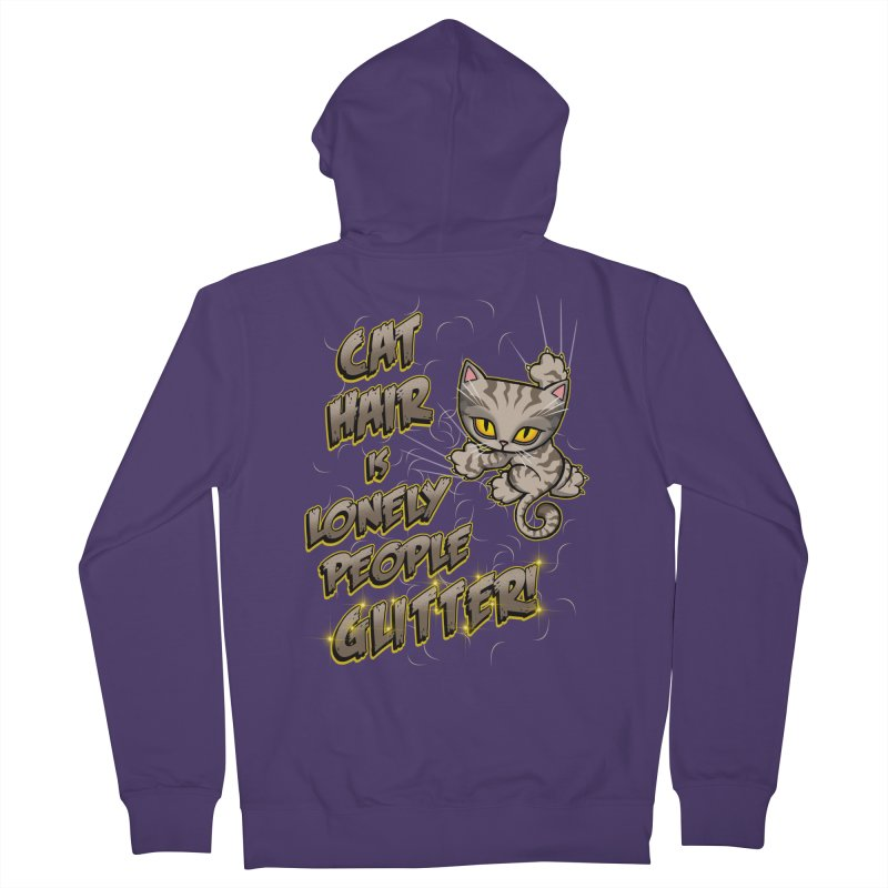 CAT HAIR!!! Women's French Terry Zip-Up Hoody by Inkdwell's Artist Shop