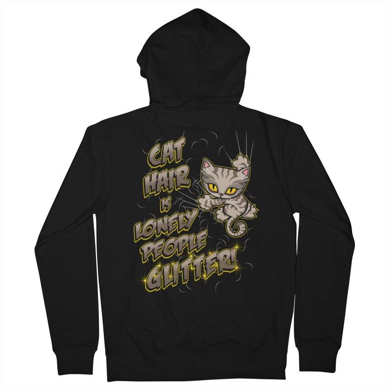 CAT HAIR!!! Women's Zip-Up Hoody by Inkdwell's Artist Shop
