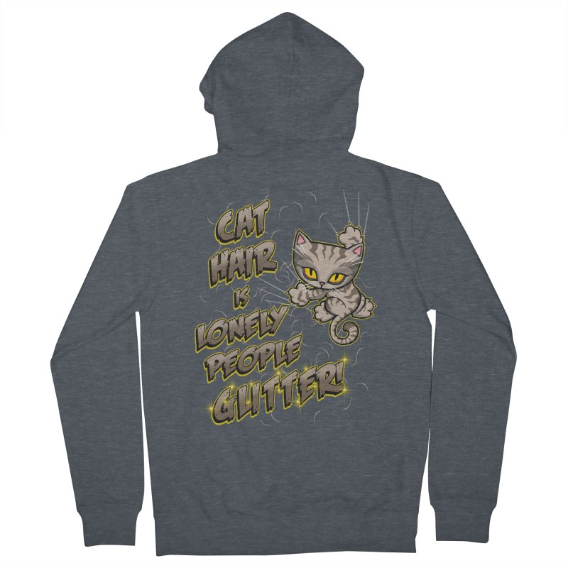 CAT HAIR!!! Men's French Terry Zip-Up Hoody by Inkdwell's Artist Shop