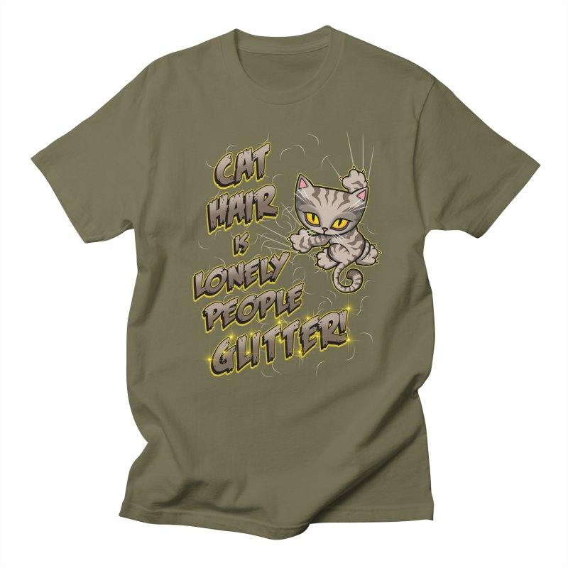 CAT HAIR!!! Men's Regular T-Shirt by Inkdwell's Artist Shop