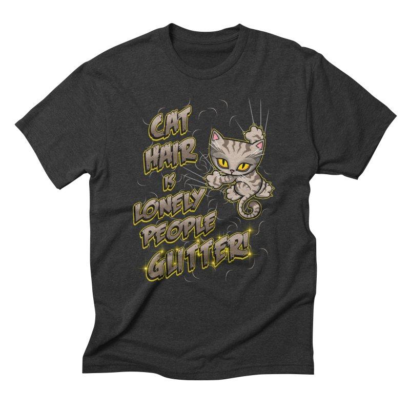 CAT HAIR!!! Men's Triblend T-Shirt by Inkdwell's Artist Shop