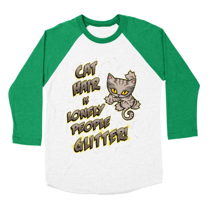 CAT HAIR!!! Women's Baseball Triblend Longsleeve T-Shirt by Inkdwell's Artist Shop