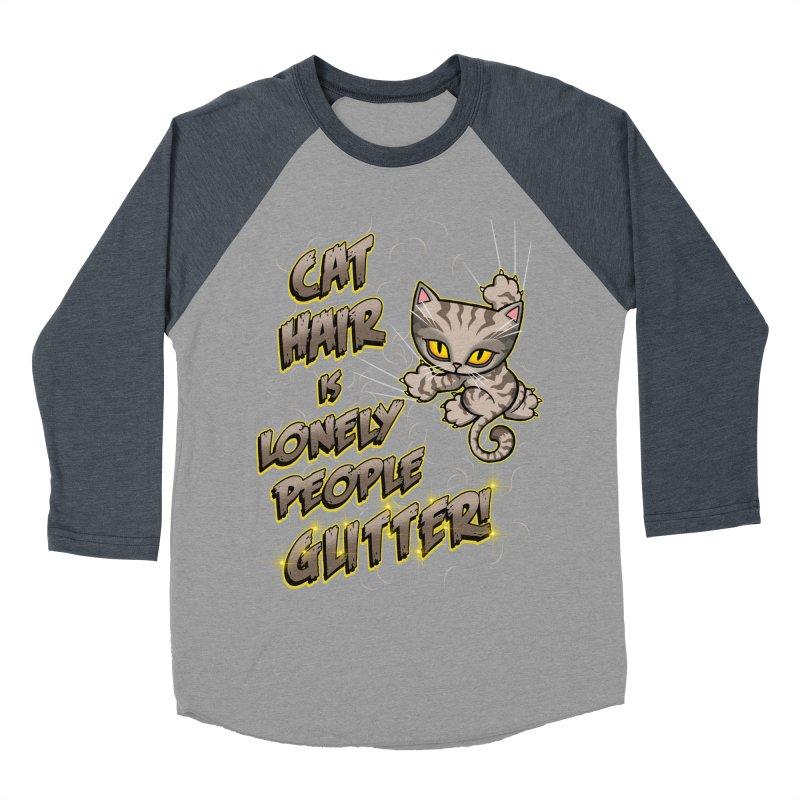 CAT HAIR!!! Women's Baseball Triblend Longsleeve T-Shirt by Inkdwell's Artist Shop
