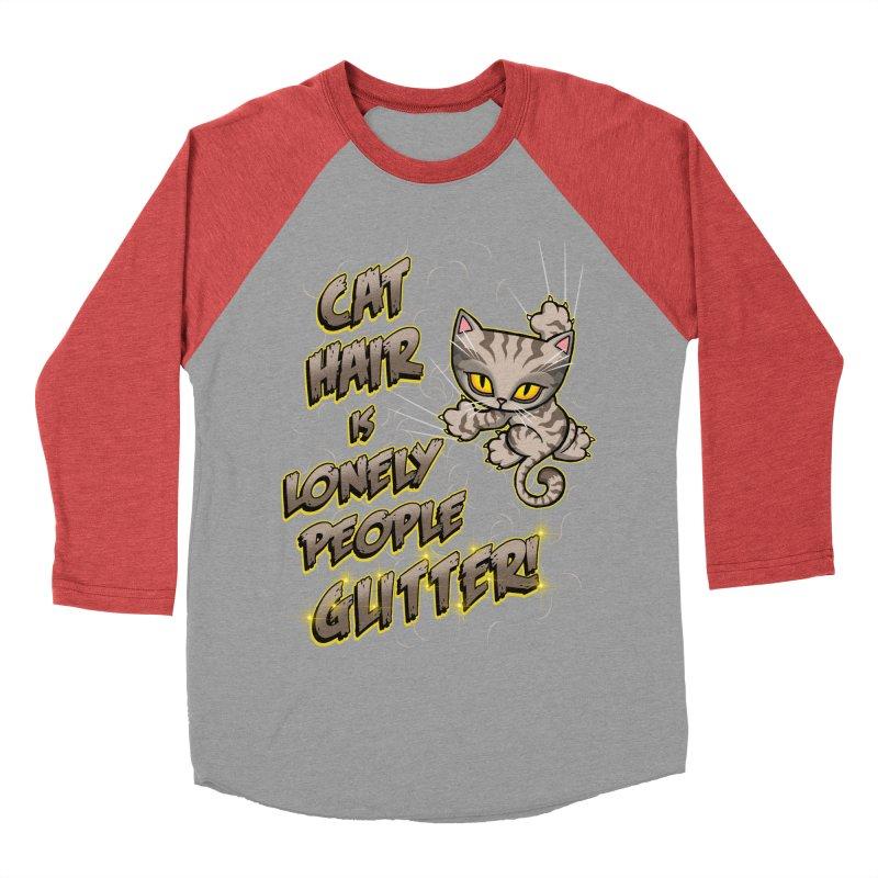 CAT HAIR!!! Men's Baseball Triblend T-Shirt by Inkdwell's Artist Shop
