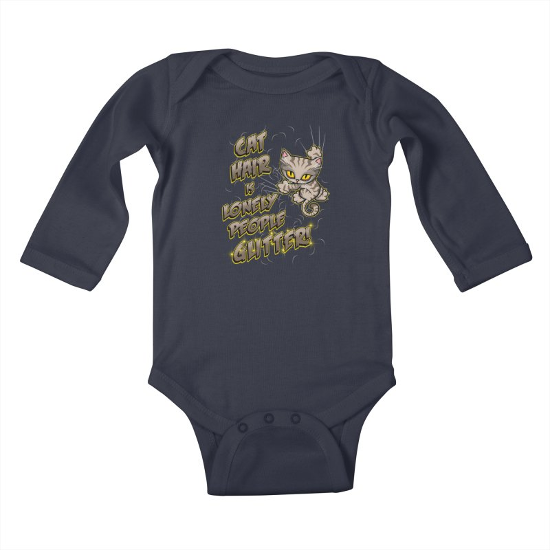 CAT HAIR!!! Kids Baby Longsleeve Bodysuit by Inkdwell's Artist Shop