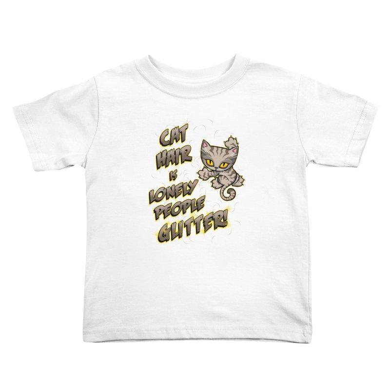 CAT HAIR!!! Kids Toddler T-Shirt by Inkdwell's Artist Shop