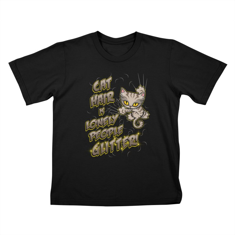 CAT HAIR!!! Kids T-Shirt by Inkdwell's Artist Shop