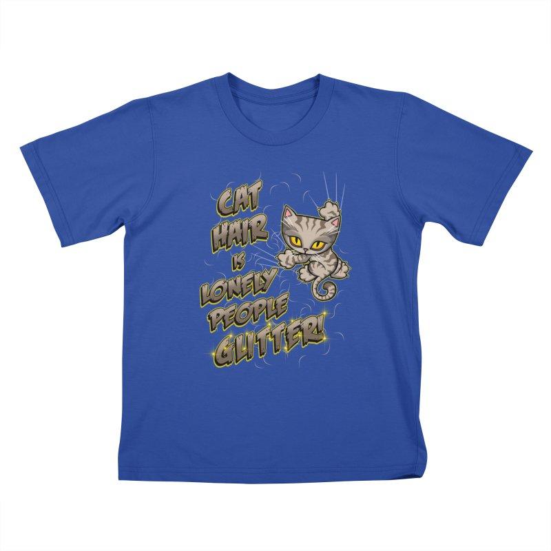 CAT HAIR!!! Kids T-Shirt by Inkdwell's Artist Shop