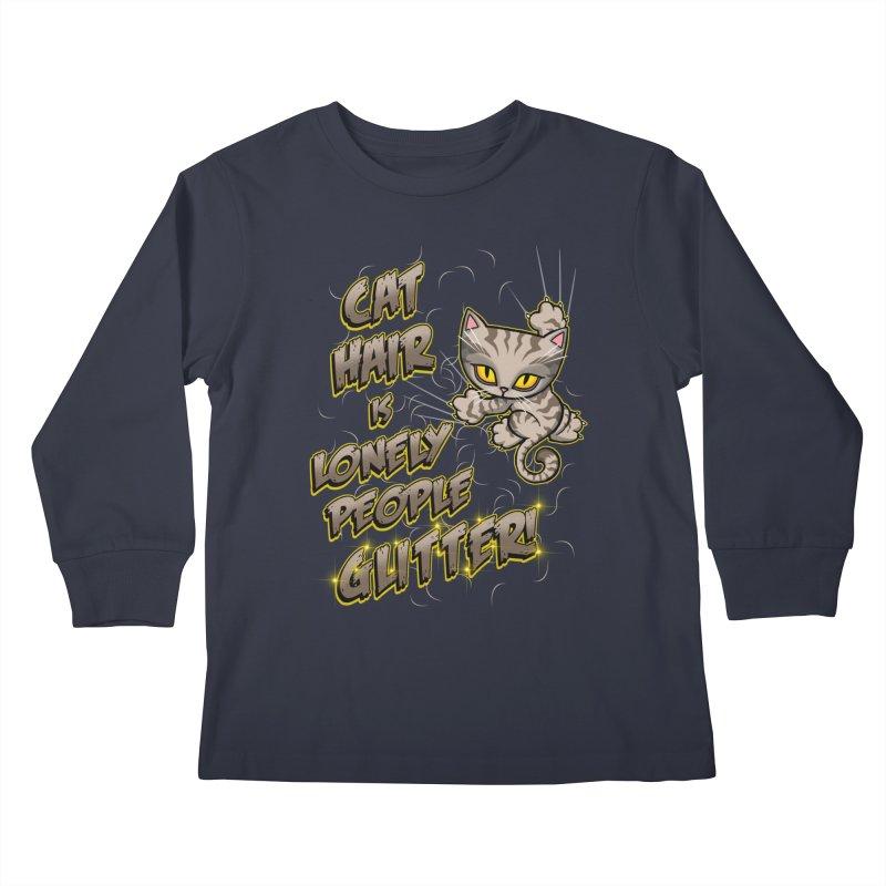 CAT HAIR!!! Kids Longsleeve T-Shirt by Inkdwell's Artist Shop