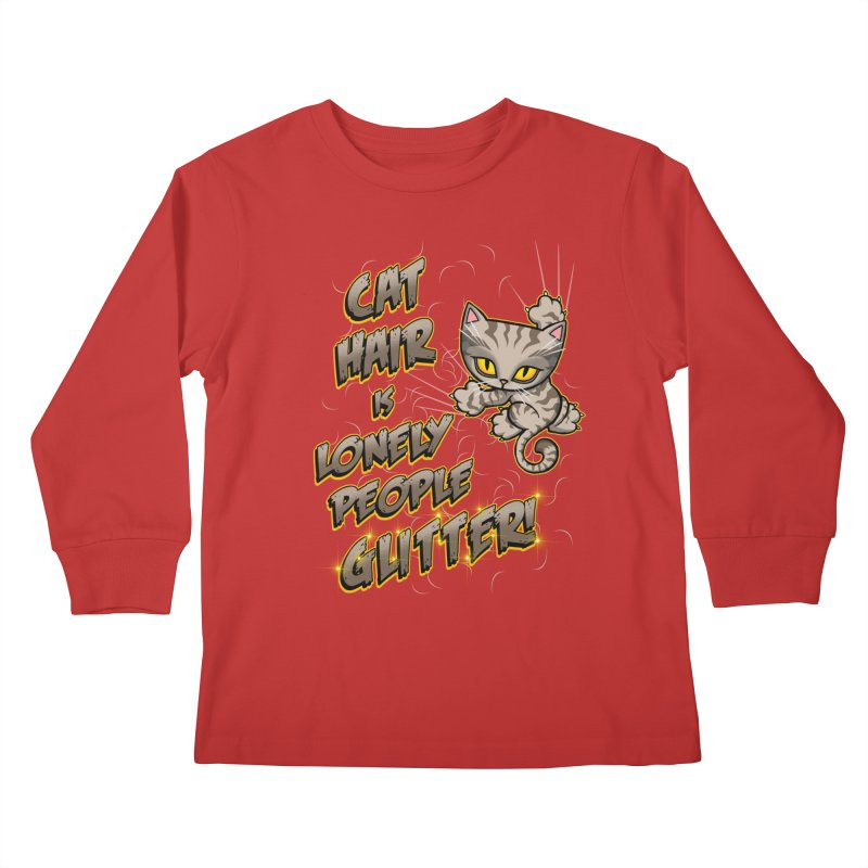 CAT HAIR!!! Kids Longsleeve T-Shirt by Inkdwell's Artist Shop