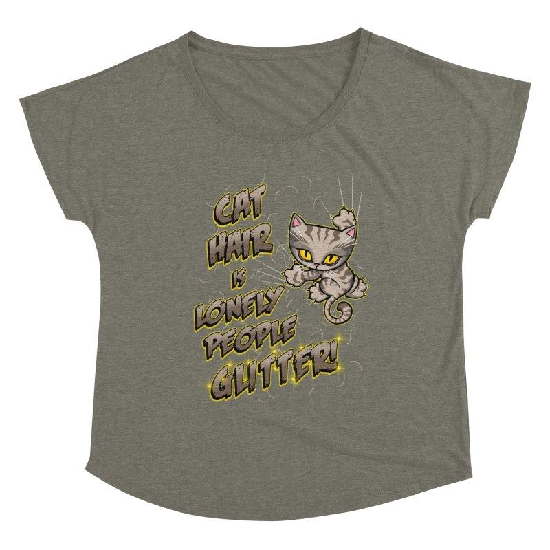 CAT HAIR!!! Women's Scoop Neck by Inkdwell's Artist Shop