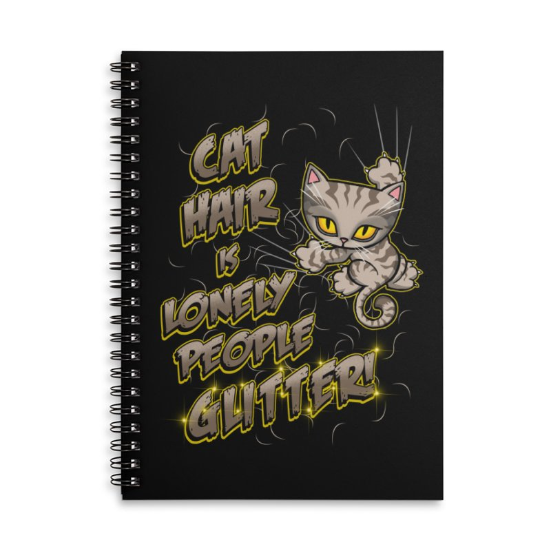 CAT HAIR!!! Accessories Lined Spiral Notebook by Inkdwell's Artist Shop