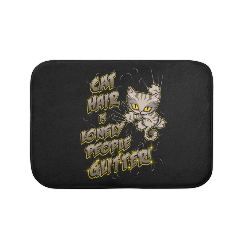 CAT HAIR!!! Home Bath Mat by Inkdwell's Artist Shop