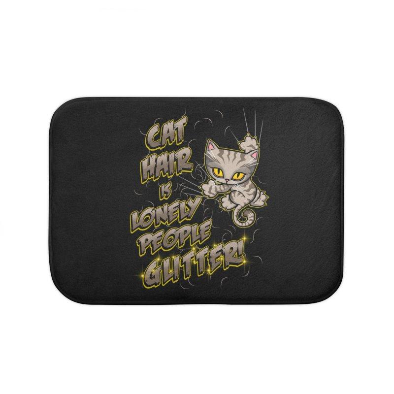 CAT HAIR!!! Home Bath Mat by Inkdwell's Artist Shop