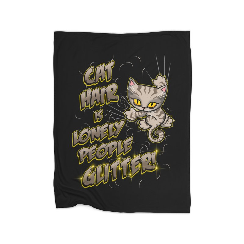 CAT HAIR!!! Home Blanket by Inkdwell's Artist Shop