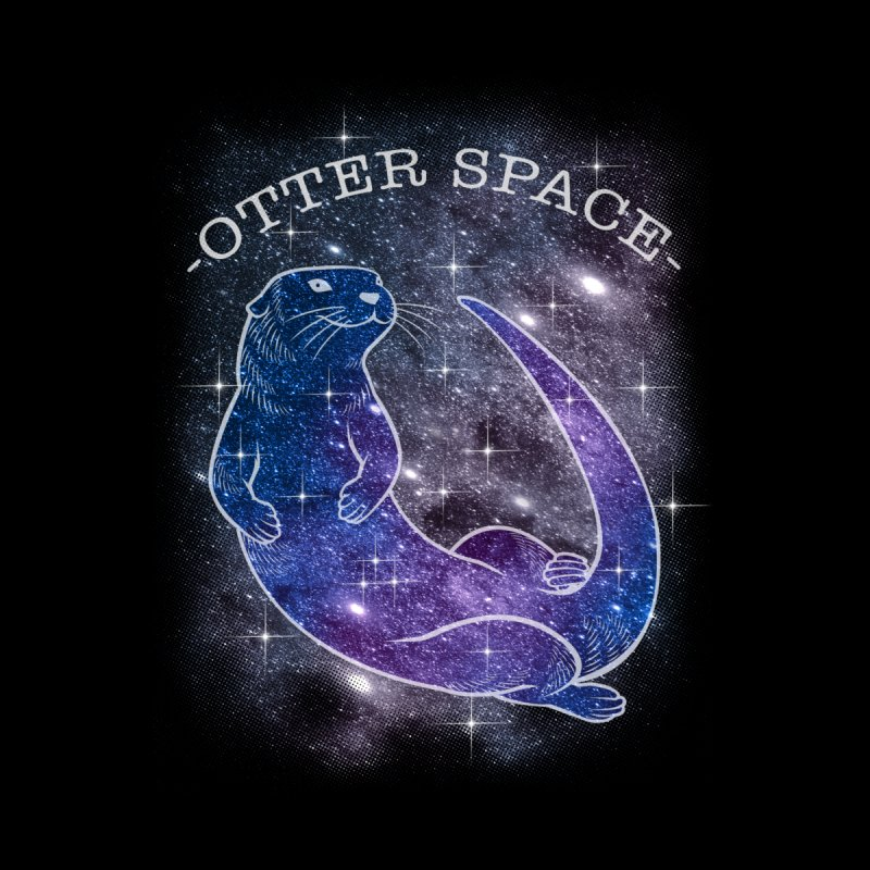 -SPACE OTTER1- Home Stretched Canvas by Inkdwell's Artist Shop
