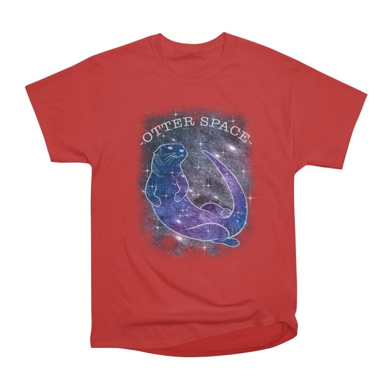 -SPACE OTTER1- Men's Heavyweight T-Shirt by Inkdwell's Artist Shop