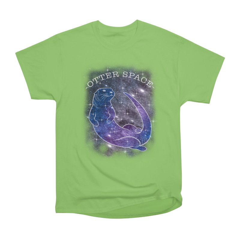 -SPACE OTTER1- Women's Heavyweight Unisex T-Shirt by Inkdwell's Artist Shop