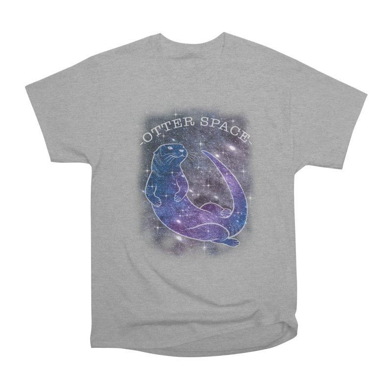 -SPACE OTTER1- Women's Heavyweight Unisex T-Shirt by Inkdwell's Artist Shop