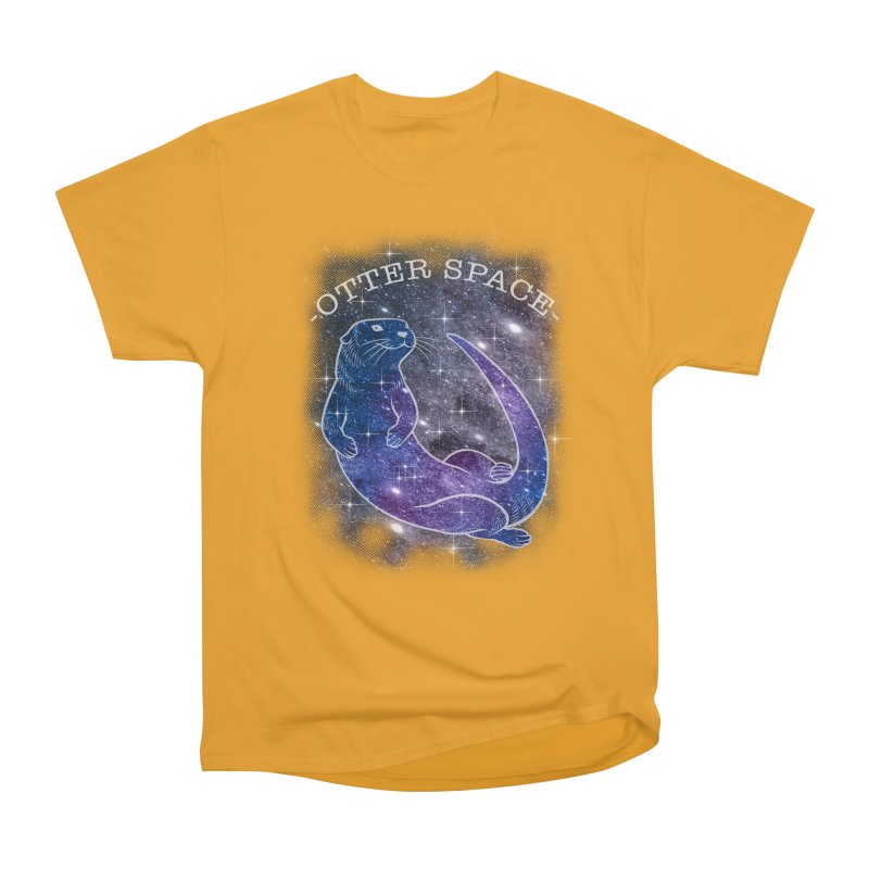 -SPACE OTTER1- Men's T-Shirt by Inkdwell's Artist Shop