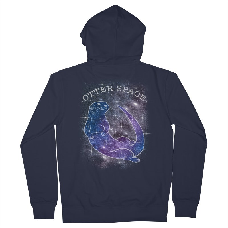 -SPACE OTTER1- Women's French Terry Zip-Up Hoody by Inkdwell's Artist Shop