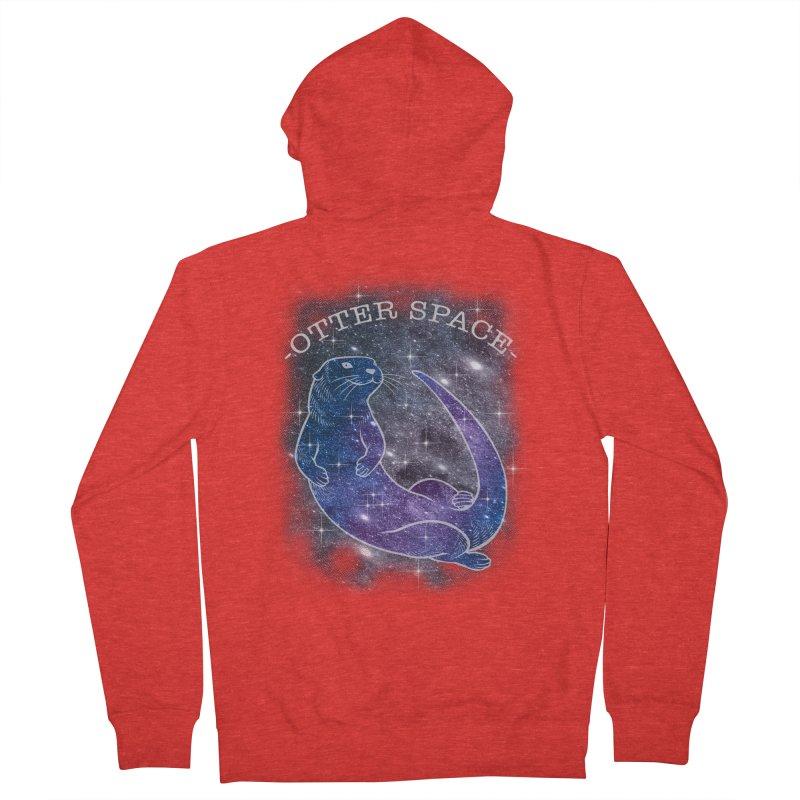 -SPACE OTTER1- Men's Zip-Up Hoody by Inkdwell's Artist Shop