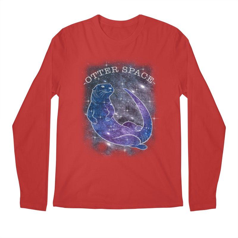 -SPACE OTTER1- Men's Regular Longsleeve T-Shirt by Inkdwell's Artist Shop